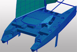 Catamaran Design using FEA software