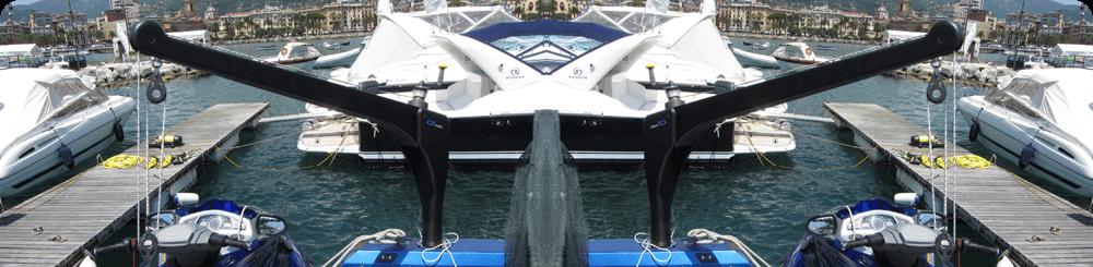 Foldable Carbon Davits To Lift Jet Ski Femstrutture